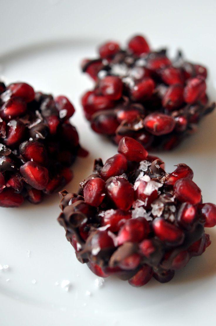 Pomegranate Dark Chocolate Bites #deliciousfood