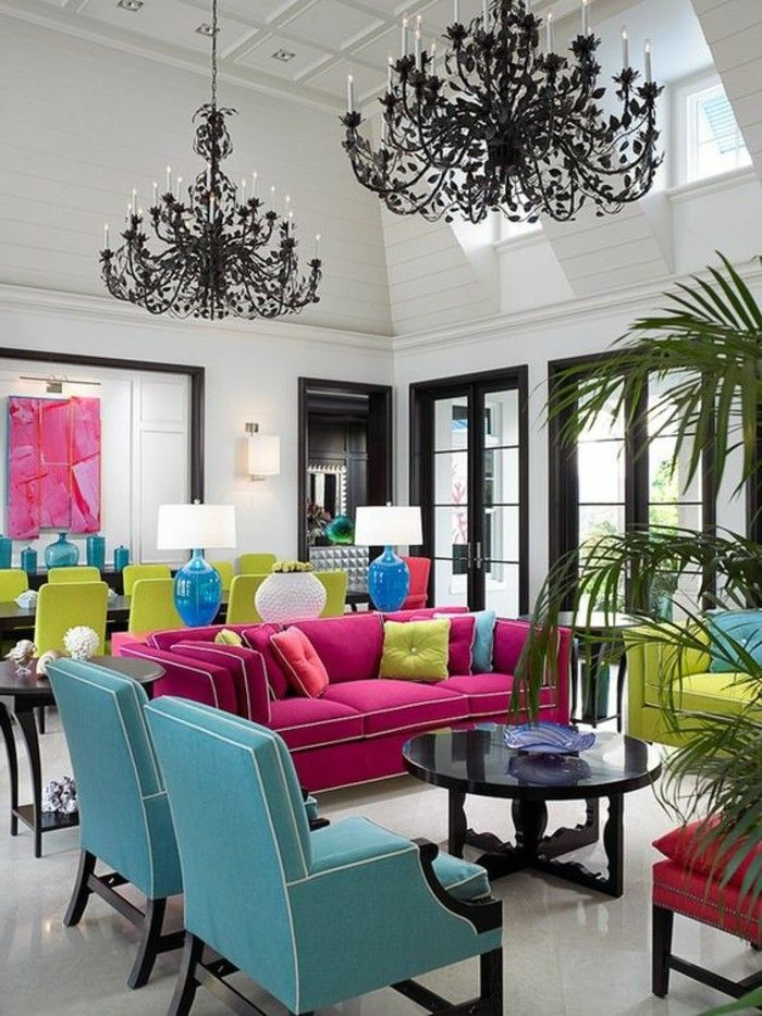 1001 id es pour booster votre int rieur avec le rose framboise architecture et d coration - Couleur pour maison interieur ...