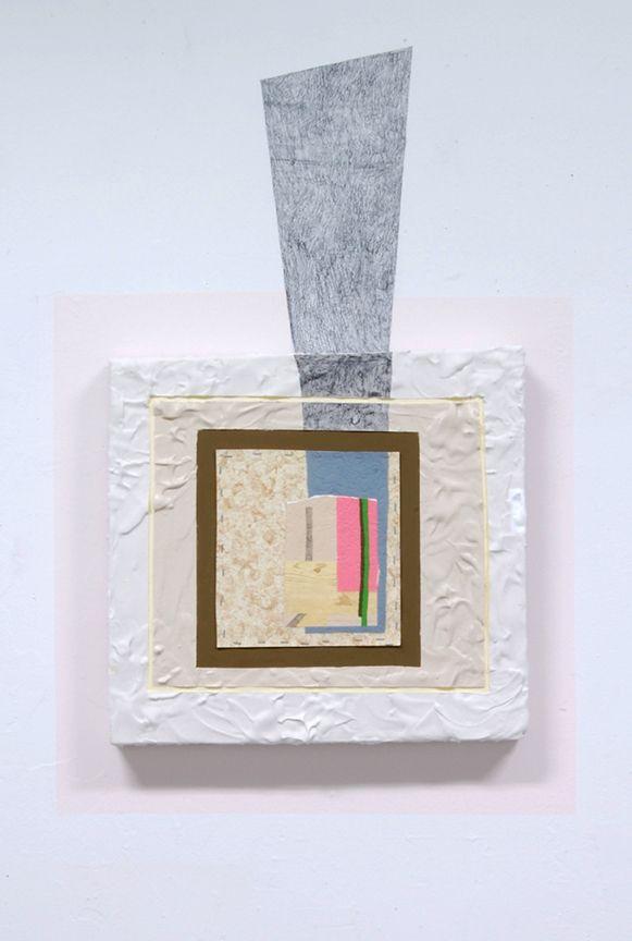 Katie Bell Untitled | 18 x 18in Acrylic, Plaster, Graphite, Linoleum ...