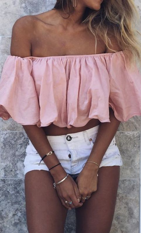 3fa0836d8f3 summer  outfits   pink crop top