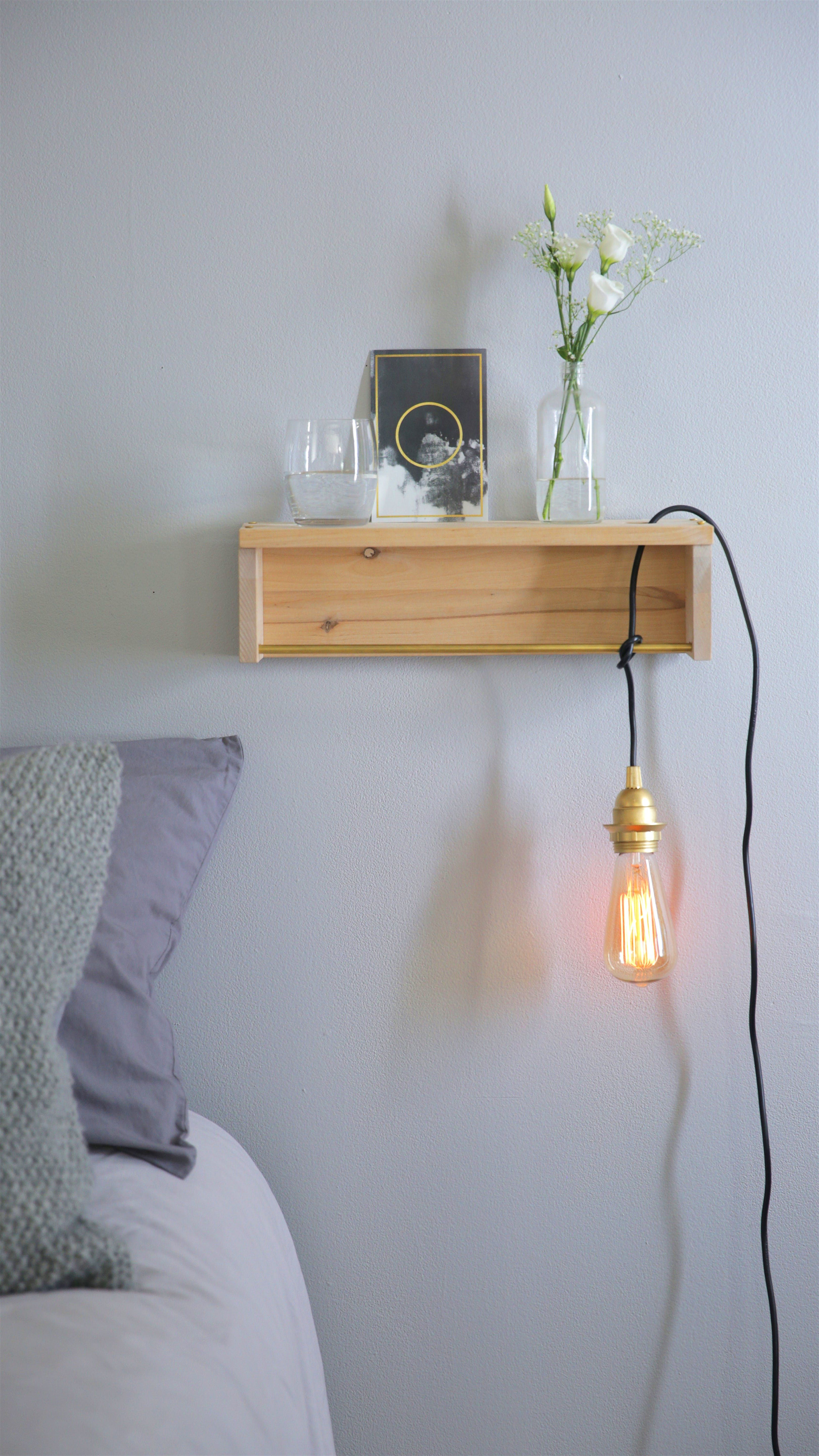 This IKEA Hack Bedside Shelf is Ideal for Small Spaces