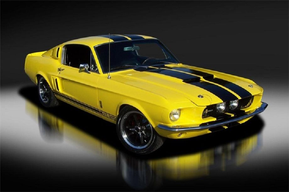 1967 Ford Mustang G T 350 Custom Fastback Yellow With Black