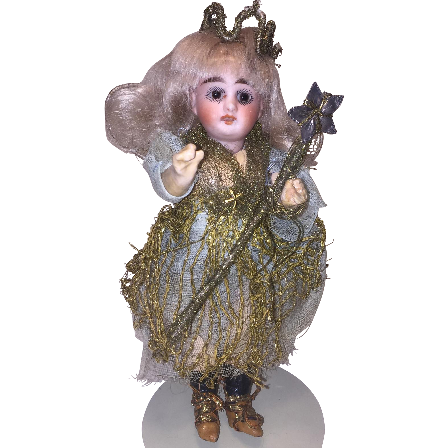 The Sweetest Antique All Original Fairy Doll, Bisque Head Composition