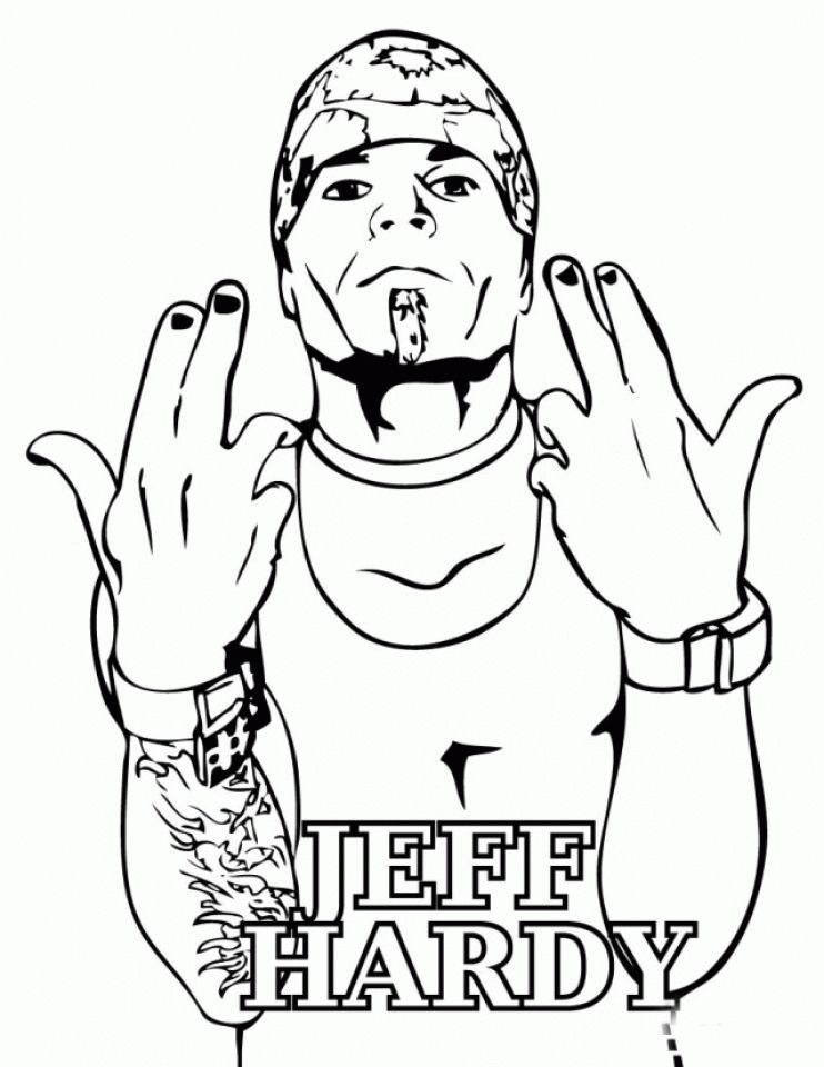 Jeff Hardy Coloring Pages In 2020 Wwe Coloring Pages Coloring Pages Coloring Pages For Kids