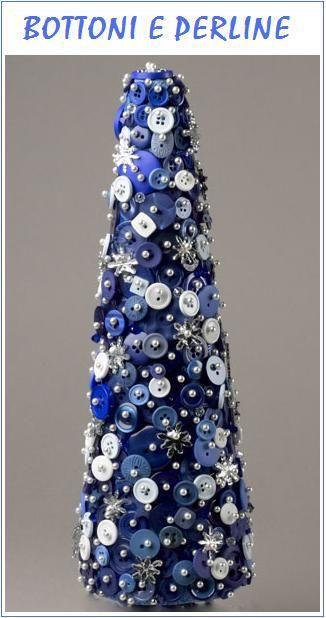 beautiful blue  white Christmas Pinterest Button art, Button