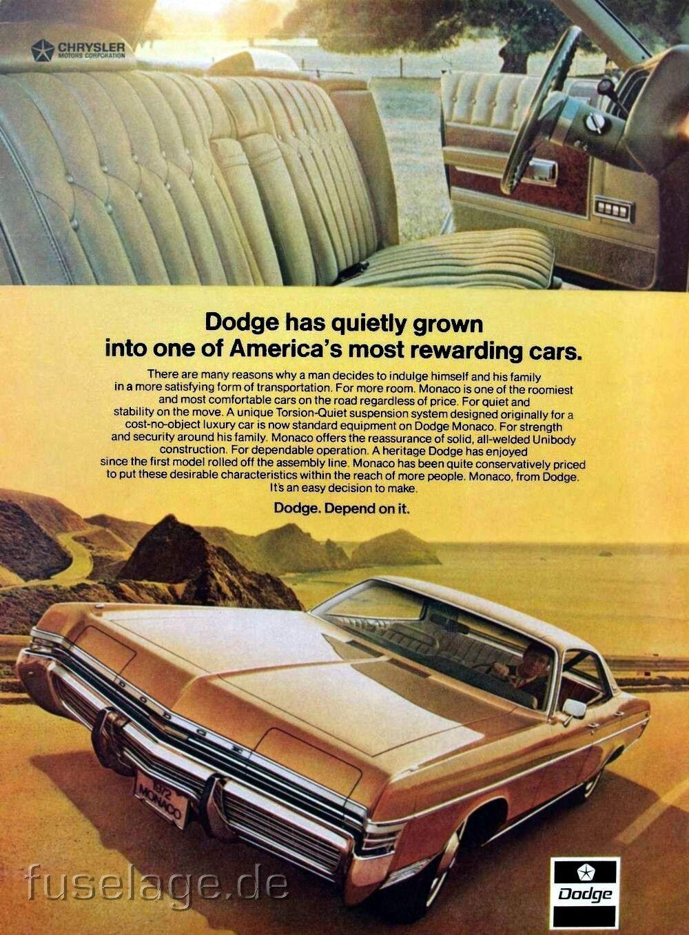 1972 dodge monaco classic ads pinterest anuncios de carros 1972 dodge monaco fandeluxe Image collections