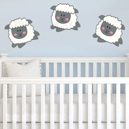 Decorate A Genderneutral Nursery With A Lamb Or Sheep Theme - Nursery wall decals gender neutral