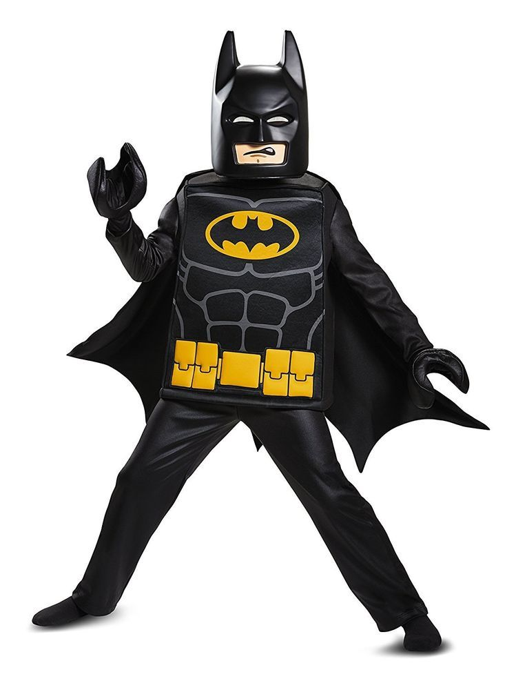 Disguise Batman LEGO Movie Deluxe Costume Black Medium (7