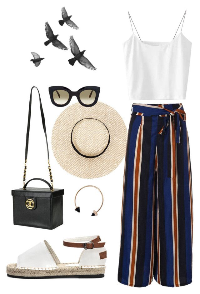 """""""Summer Days"""" by trend-anonymous on Polyvore featuring Chanel, CÉLINE, polyvoreeditorial, vacationstyle and Summerinspiration"""