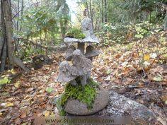 hypertufa toadstools cement garden art, crafts, gardening, Moss makes them look well aged