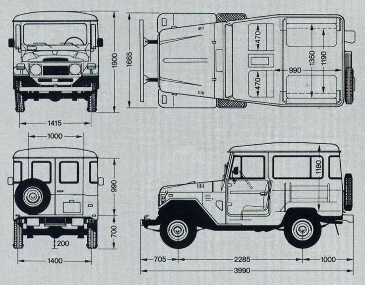 Land cruiser fj45 wallpaper pesquisa google blueprints for Garage ford massy