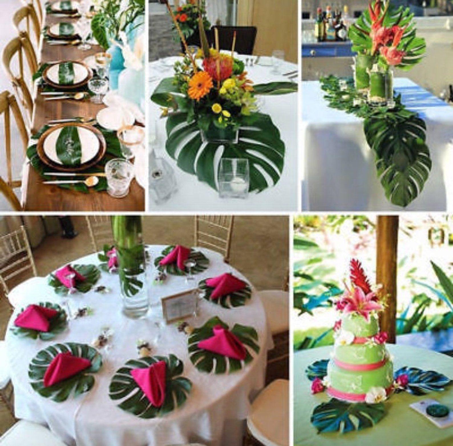 Decoration Table Theme Tropical