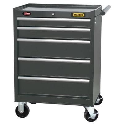 Stanley 27 In 5 Drawer Wide Tool Cabinet In Grey H5trsgy The Home Depot Tool Cabinet Tool Box Organization Drawers
