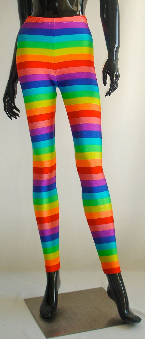 cd9163d0f8214 NEW Rainbow Stripe Rainbow Brite Leggings by MessQueenNewYork - Hang 10 had  these on the market in 1972