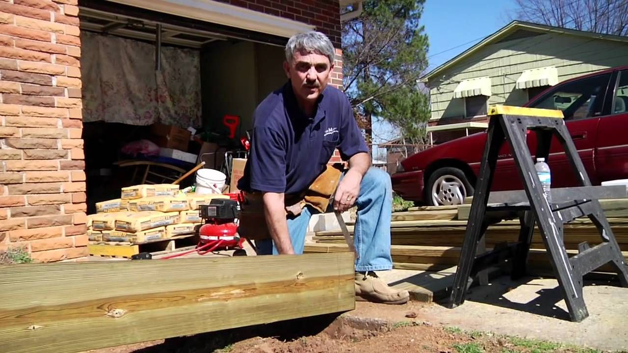 How to build a residential ramp building a deck wooden