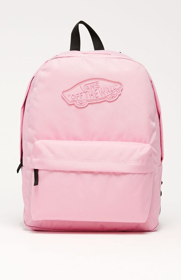 Vans Realm Pink School Backpack Womens Backpack Pink