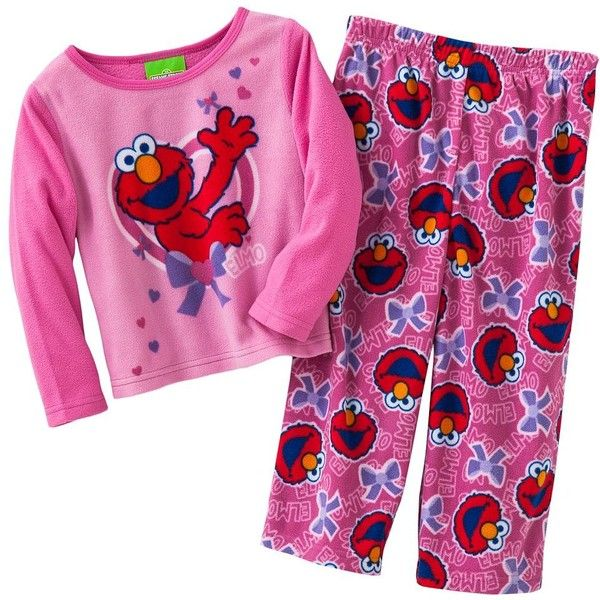 Sesame Street Elmo Fleece Pajamas - Toddler ($17) ❤ liked on Polyvore featuring baby