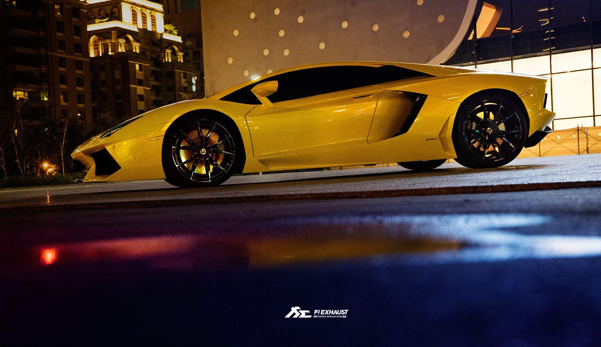 1920x1108 Lamborghini Lp700 Yellow Wallpaper Gold