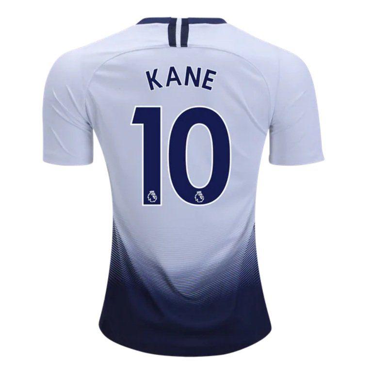 45539d7994 Kane+ 10+Tottenham+Hotspur+2018-2019+Home+SOCCER+Jersey+-+White BLUE ...