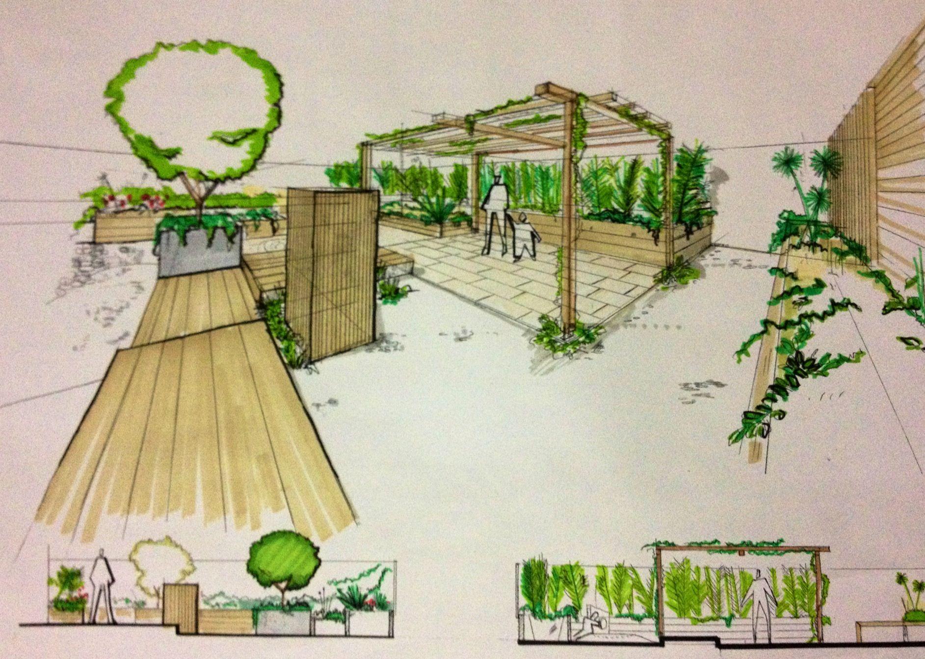 Sketch paisajismo sketches pinterest garten architektur und zeichnen - Garten zeichnen ...