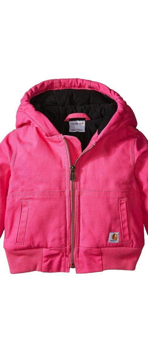 e5a763566 Carhartt Kids Wildwood Jacket (Infant) (Raspberry Rose) Girl s Coat ...