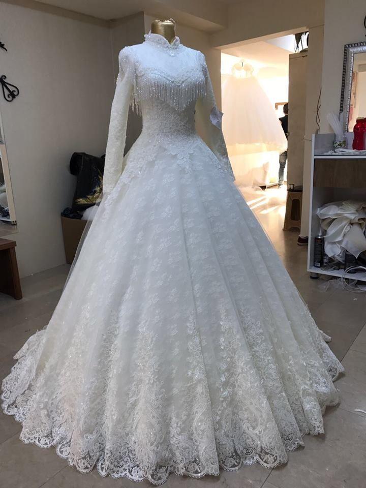 Pin von Muhide auf düğün   Pinterest   Islamisch, Brautkleid und Kleider