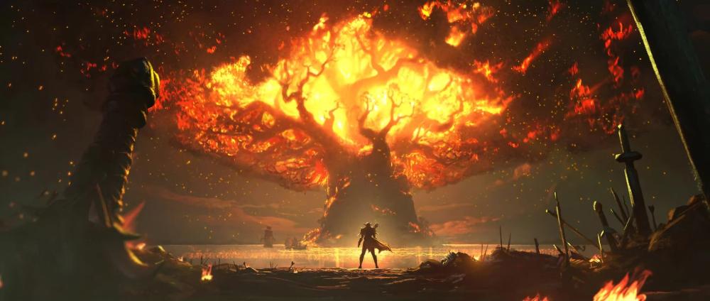 The Burning Of Teldrassil Blizzplanet In 2020 World Of Warcraft Wallpaper Tree Illustration Sylvanas Windrunner