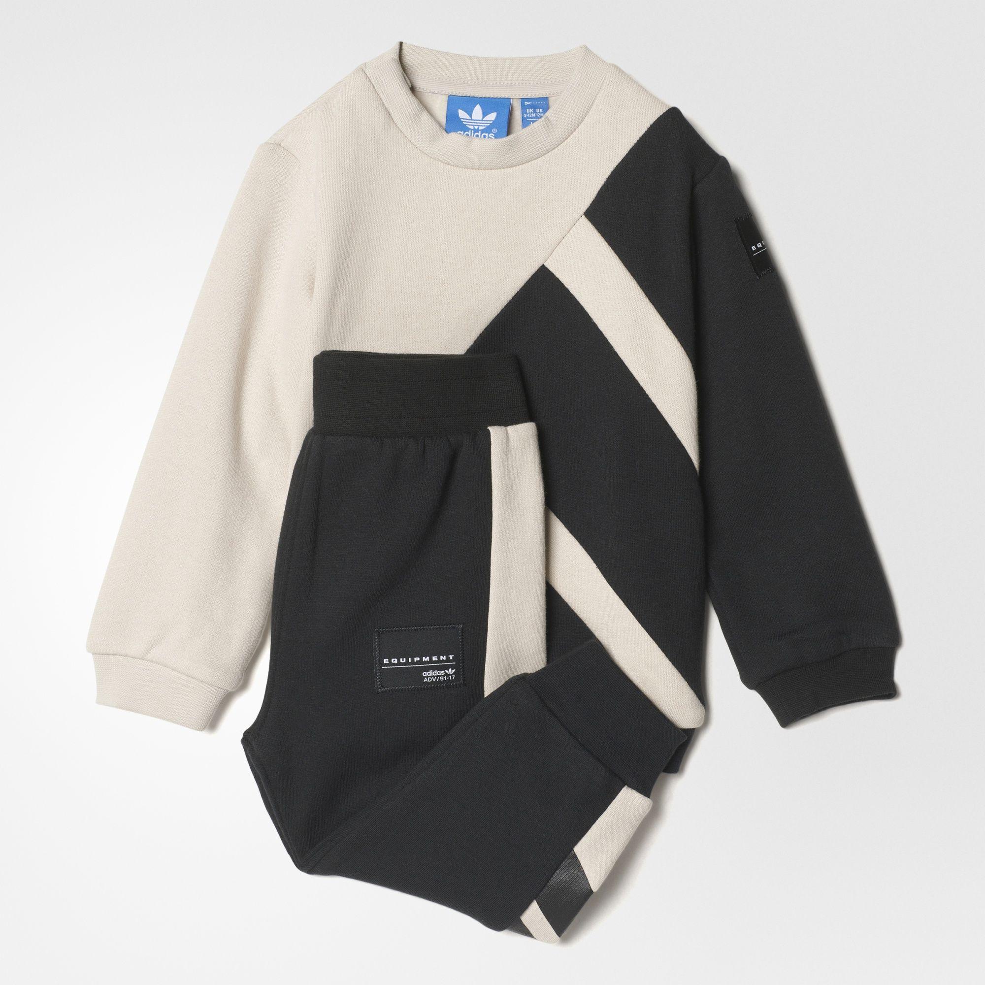 adidas Originals Boys Junior Boys EQT Fleece Crew