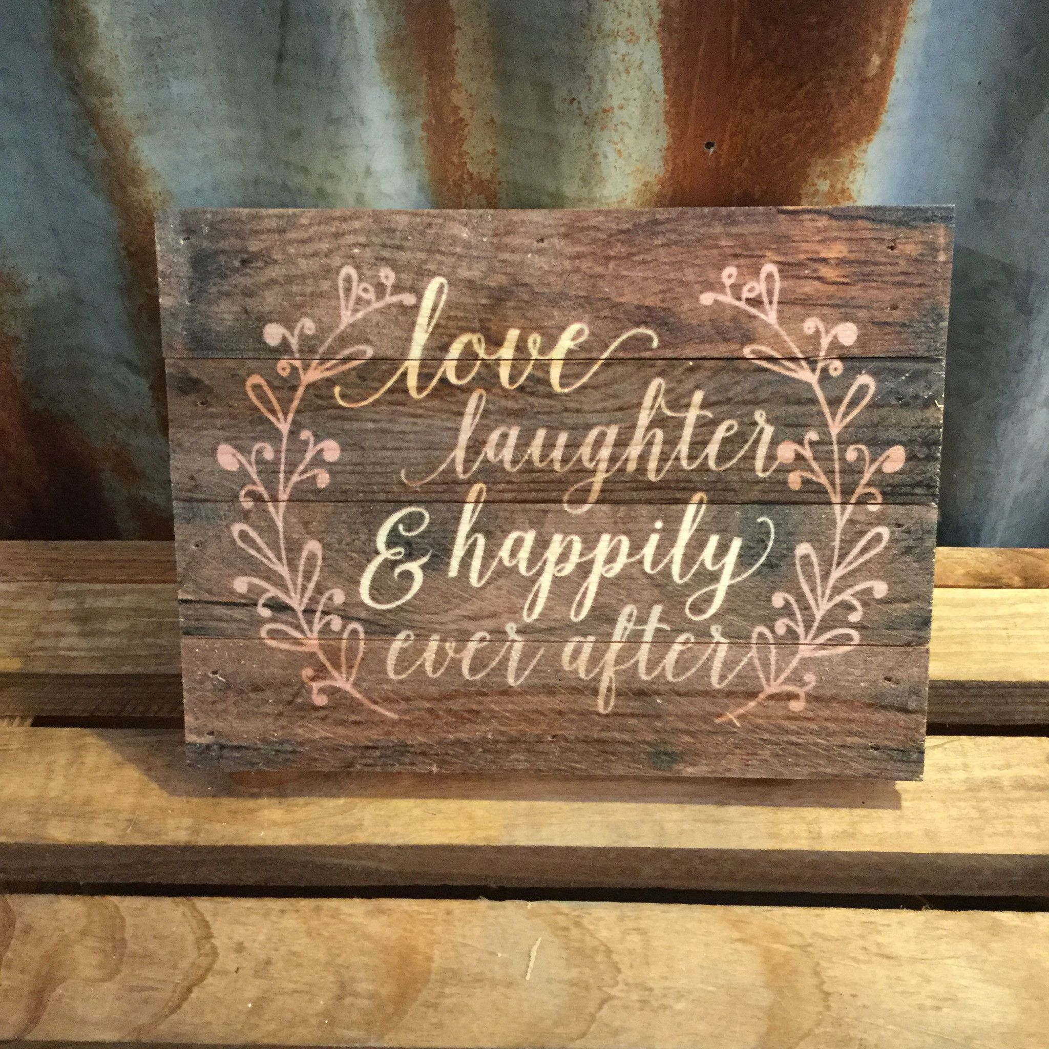 Pallet Sign-Happliy Ever After