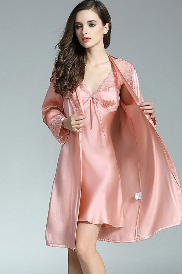 Beauty collection | Night dress, Satin gown, Long nightdress