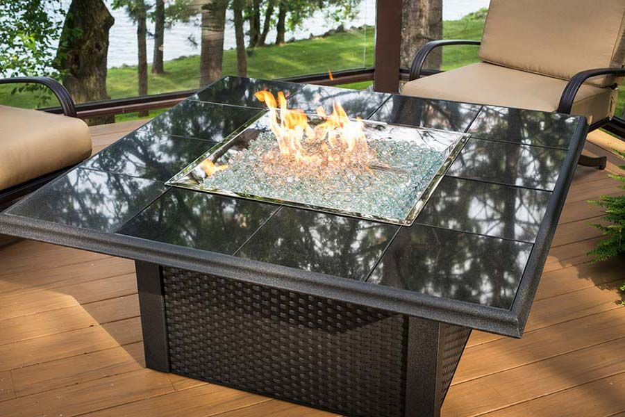 Patio Table With Fire Pit Lowes