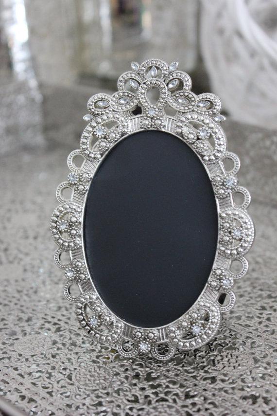 Sale Set Of 12 Vintage Style Oval Jeweled Rhinestone Frames Bling