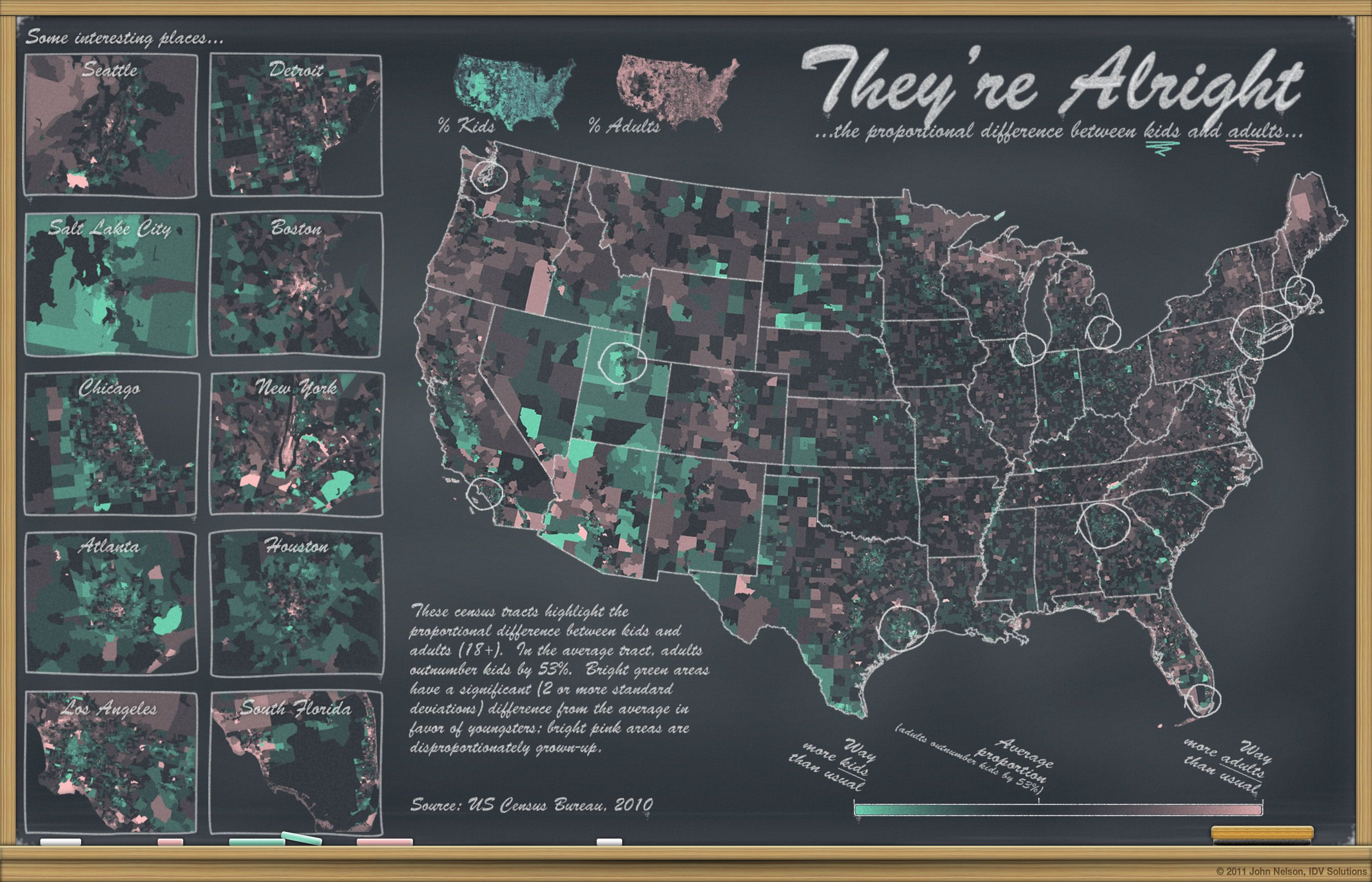 Oldies and Youngins: Mapping the Age Gap