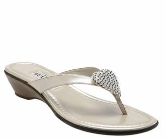 Dezario Pearl Sandals - Choose Black or White