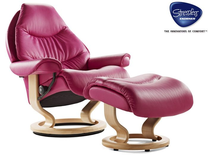 Ekornes Stressless Clearance Voyager Recliner And Footstool By