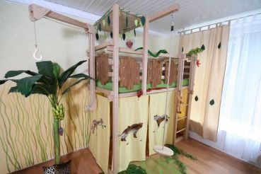 Etagenbett Dschungel : Hochbett dschungel babyzimmer