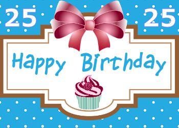 Leuke 25 Jaar Verjaardag Plaatjes Verjaardagskaarten Pinterest