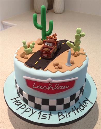 Amanda's Cakes and Invitations - Birthday Cakes- cars mater cake boys www.romeoauto.it #cake #cakedesign #cars #cakecars #cakecar #auto #dolci #pasticceria #birthday #compleanni #motors #motori