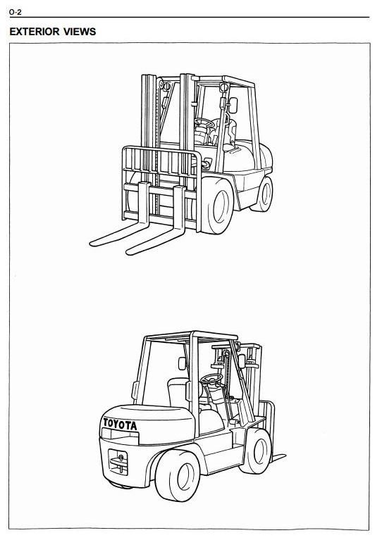 Original Illustrated Factory Workshop Service    Manual    for    Toyota    Diesel Forklift    Truck    Type 6FDU