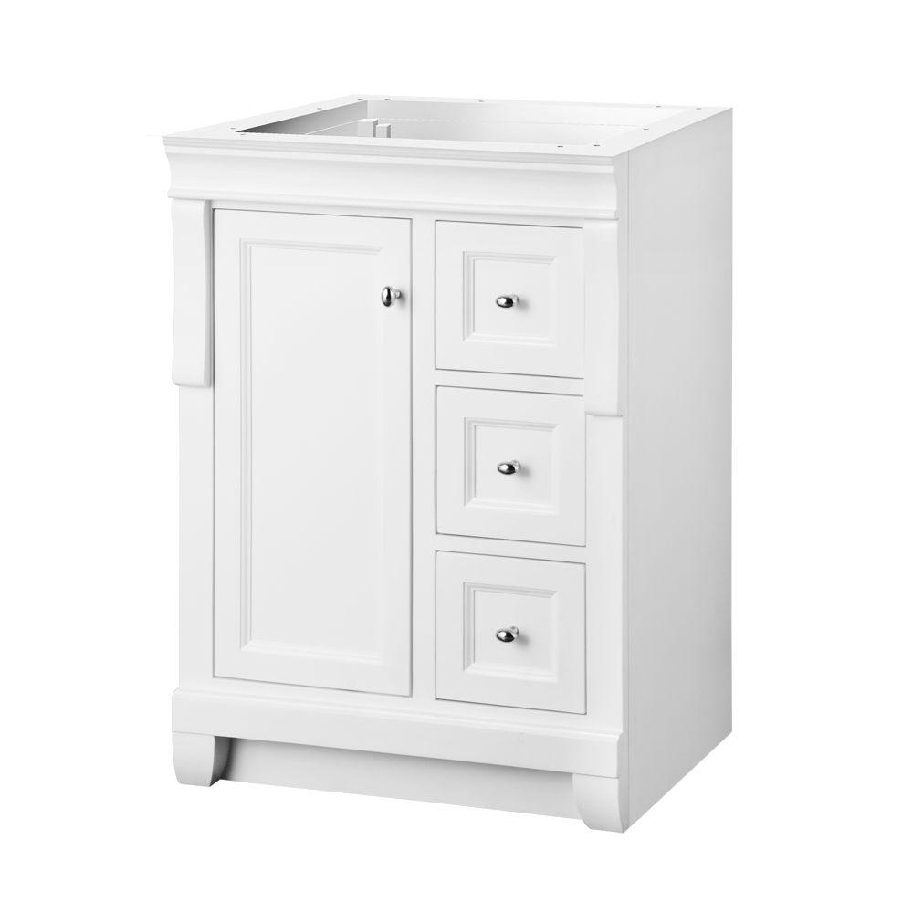 Foremost Naples 24 In W X 18 In D X 34 In H Vanity Cabinet Only In White Nawa2418d At The Home White Vanity Bathroom Vanity Cabinet 24 Inch Bathroom Vanity