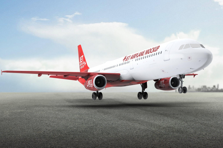 Jet Airplane A321 Mock Up By L5design On Envato Elements Mockup Jet Business Cards Diy Templates