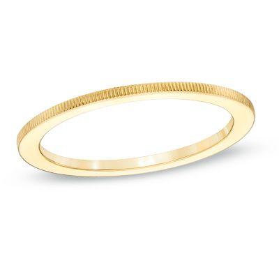 Zales Ladies 1.0mm Coin-Edge Wedding Band in 14K White Gold yA85w