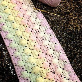 بطانيات الكروشية مع البترونات مفارش كروشية للأطفال طريقة غرزة رجل الغراب درس كروشية بالصور Crochet Blanket Blanket Crochet