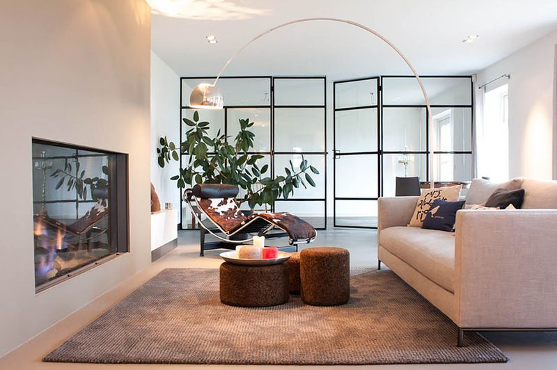 Contemporary Living Room By Louise De Miranda Floor Lamps Living Room Houzz Interior Design Home