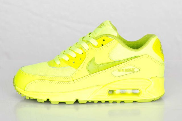 Tout Rose Nike Air Max 90 (gs) Volt / Vert Féroce