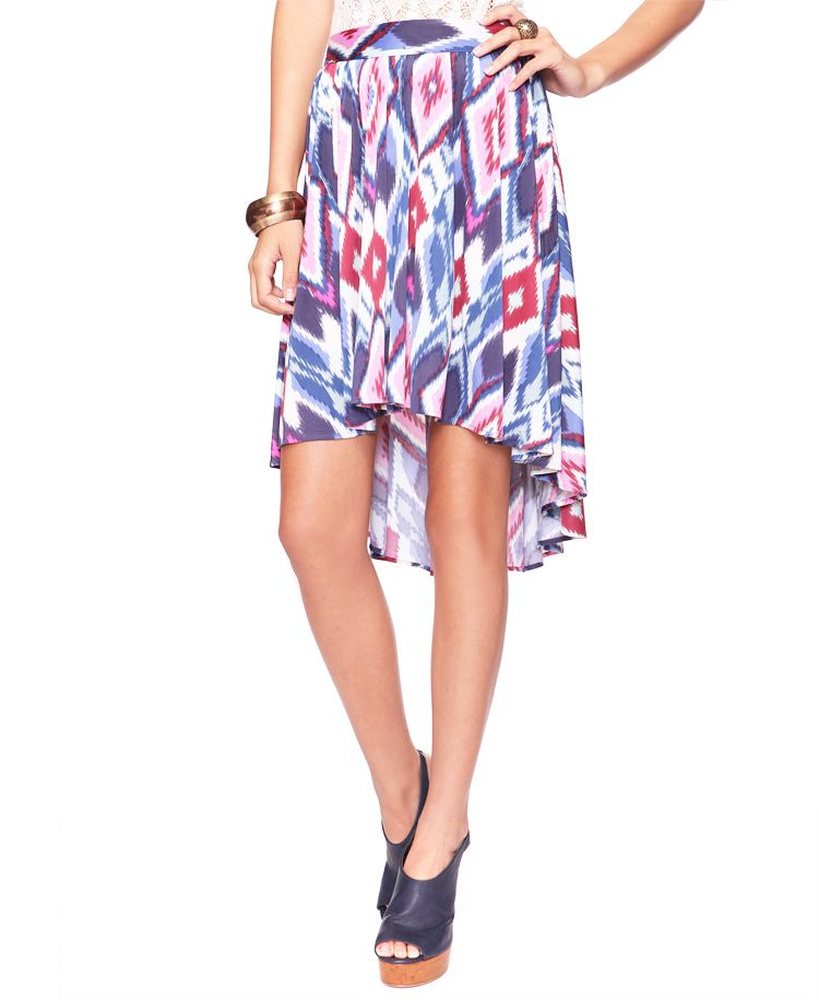 071d38207 Ikat High-Low Skirt | FOREVER21 - 2000020757 | My Style | Fashion ...