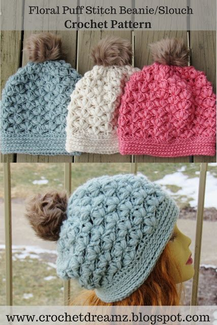 1c8c2386bb55f6 Winter Blossom Slouch Crochet Pattern, Options to Make a Regular Beanie or  a a Slouchy Included
