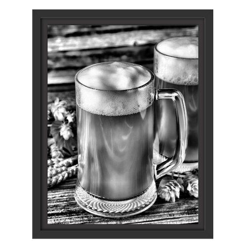 Photo of East Urban Home Gerahmter Druck Bier Bier Glas | Wayfair.de