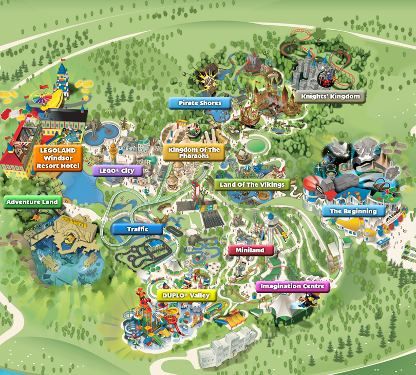 Legoland Windsor 2010 Map Need to take the boys ASAP Favourite