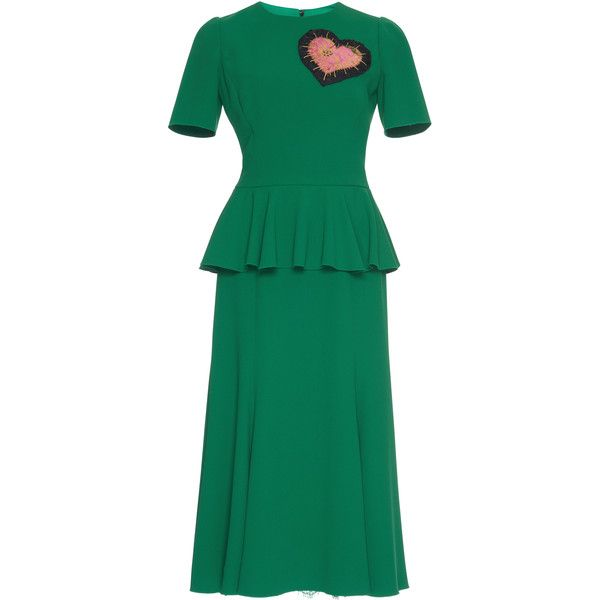 Crepe Peplum Dress - Green Dolce & Gabbana tLLqKUUB